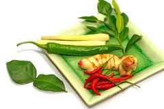 Fresh herb for soup Tom Yum Royalty Free Stock Photography