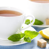 Fresh herbal mint tea Royalty Free Stock Photo