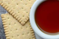 Fresh herbal tea  overhead Royalty Free Stock Image