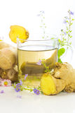 Fresh Herbal Tea With Root Ginger Stock Images