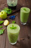Fresh herbs smoothie Stock Photography
