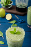 Fresh herbs smoothie Stock Images