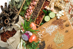 Fresh herbs and spices Royalty Free Stock Photography
