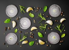 Fresh herbs and spices Stock Photography