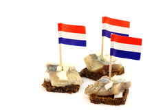 Fresh herring (Dutch Hollandse Nieuwe) stock photography