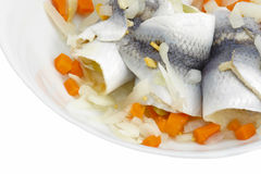 Fresh herrings. On the plate Stock Photo