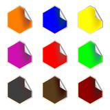 Fresh hexagon labels Royalty Free Stock Image