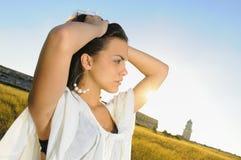 Fresh hispanic beauty Stock Photography