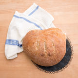 Fresh home baked loaf of bread Royalty Free Stock Images