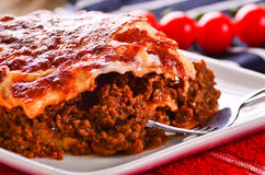 Fresh home cooked lasagna Stock Image