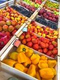 Fresh home grown fruit, vegetables - bell pepper, tomato, grape, Stock Photos