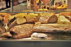 Fresh home-made bred at store Royalty Free Stock Photography