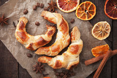 Fresh home made croissants Royalty Free Stock Images