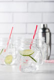 Fresh home made gin tonic cocktails Stock Photo