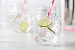 Fresh home made gin tonic cocktails Royalty Free Stock Photos