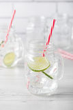 Fresh home made gin tonic cocktails Royalty Free Stock Image