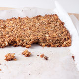 Fresh home made granola bars made with coconut oil Stock Image