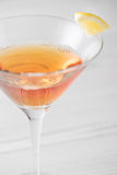 Fresh home made Manhattan cocktails with garnish Stock Photo