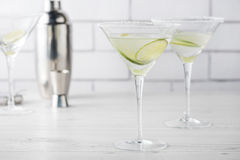 Fresh home made Margarita cocktails Stock Photography