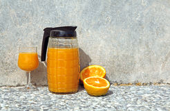 Fresh home made orange juice Stock Images