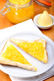 fresh home made organic lemon curd Royalty Free Stock Photos