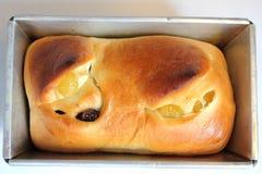 Fresh home made raisin bread. A big fresh home made raisin bread Royalty Free Stock Photos