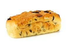Fresh home made raisin bread. On white Royalty Free Stock Photos