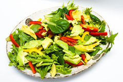 Fresh home made salad with avocado Royalty Free Stock Photo