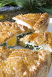 Fresh home made spinach and artichoke pie Royalty Free Stock Photo