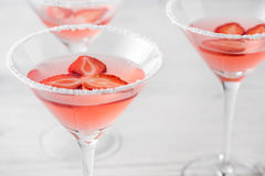 Fresh home made strawberry margarita cocktails Royalty Free Stock Photo
