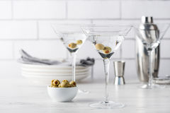 Fresh home made vodka martini cocktails Stock Photo