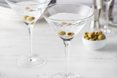 Fresh home made vodka martini cocktails Stock Photography