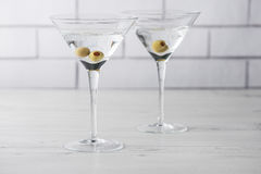 Fresh home made vodka martini cocktails Stock Photos