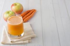 Fresh homemade apple carrot juice Stock Photos