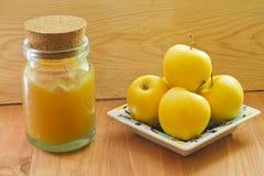 Fresh homemade apple jam Stock Image