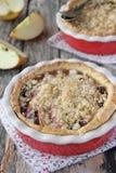 Fresh homemade apple-raisins tart Stock Photo