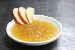Fresh homemade apple sauce Stock Photos