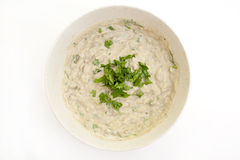 Fresh homemade Baba Ghanoush Royalty Free Stock Photos