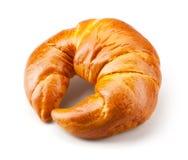 Fresh homemade bagel isolated on white Royalty Free Stock Image