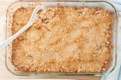 Fresh homemade baked apple crisp Royalty Free Stock Image