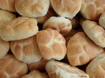 Fresh homemade baked bread in abundance. Detail of a fresh homemade baked bread in abundance stock photos