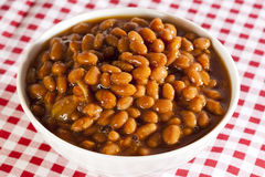 Fresh Homemade BBQ Baked Beans Royalty Free Stock Image