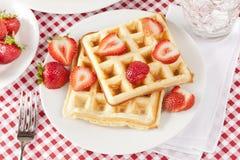 Fresh Homemade Belgium Waffles Stock Image