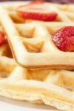 Fresh Homemade Belgium Waffles Royalty Free Stock Image