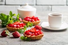 Fresh homemade berrie tarts Stock Photography