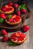 Fresh homemade berrie tarts stock images