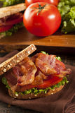 Fresh Homemade BLT Sandwich Royalty Free Stock Photos