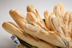 Fresh homemade Bread. Homemade french bread in Basket Royalty Free Stock Images