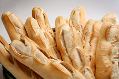 Fresh homemade Bread. Homemade french bread in Basket Royalty Free Stock Photography