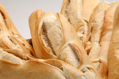 Fresh homemade Bread. Homemade french bread in Basket Stock Images